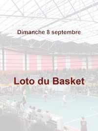 Loto du Basket le 8 septembre